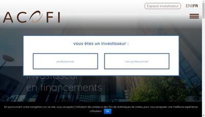 Site internet de Acofi Gestion