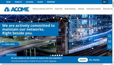 Site internet de Acom