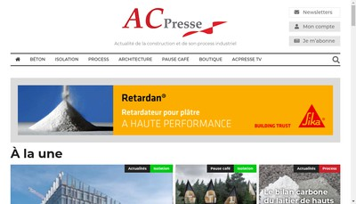 Site internet de Les Editions Avenirconstruction