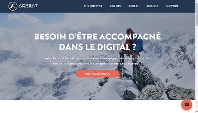 Site internet de Acreat