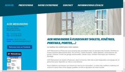 Site internet de SARL Acr Menuiserie