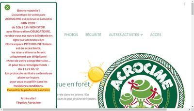 Site internet de Acrocime