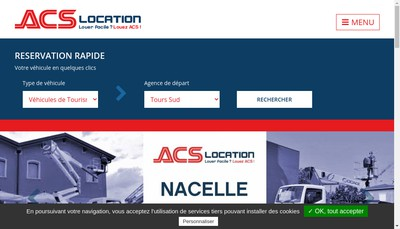 Site internet de ACS Location