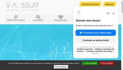 Site internet de Acssur