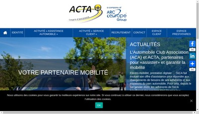 Site internet de Arc Europe France