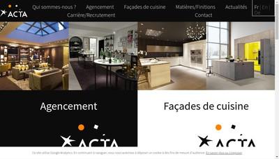 Site internet de Acta Mobilier