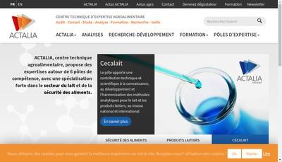 Site internet de Actalia