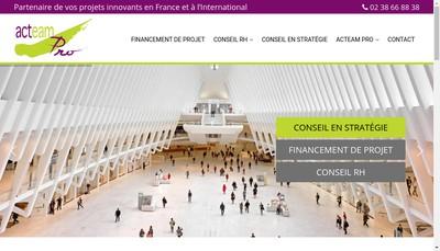 Site internet de Acteam Pro