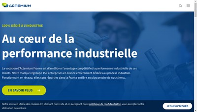 Site internet de Cegelec Haute Normandie