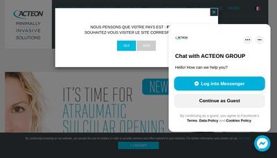 Site internet de Acteon Distribution