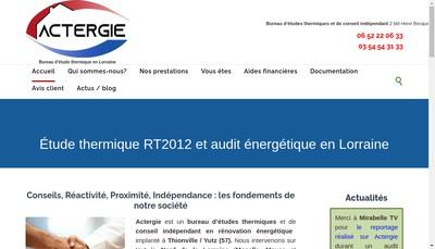 Site internet de Actergie