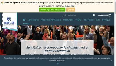 Site internet de Acteurs & Cie