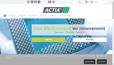 Site internet de Actia Automotive