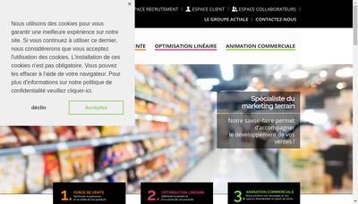 Site internet de Actiale