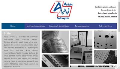 Site internet de Actidoc Werquin