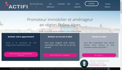 Site internet de Aleo Groupe