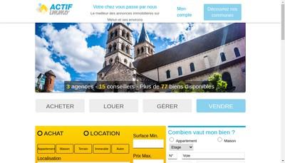 Site internet de Actif Agence Alpha Melun