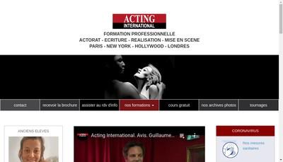 Site internet de Acting International