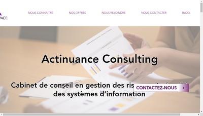 Site internet de Actinuance Consulting