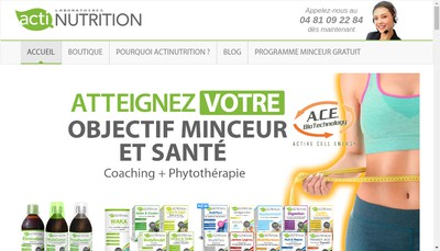 Site internet de Actinutrition