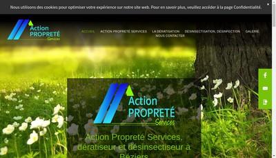 Site internet de Action Proprete Services