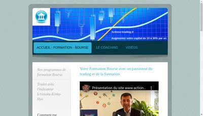 Site internet de Actions-trading.fr