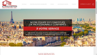 Site internet de Actipole Gestion