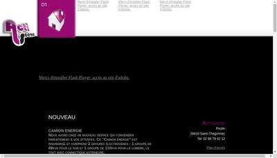 Site internet de Actiscene