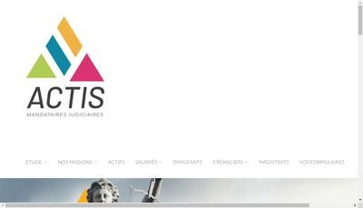 Site internet de Actis Mandataires Judiciaires
