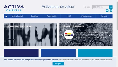 Site internet de Activa Capital