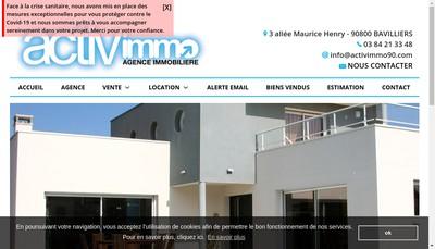 Site internet de Activimmo