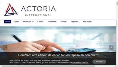 Site internet de Actoria Conseil