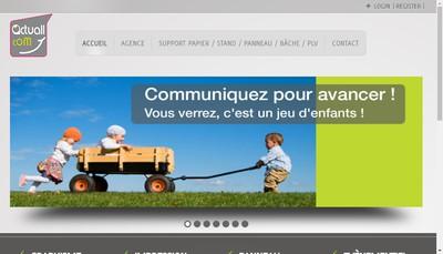 Site internet de Actuall Communication