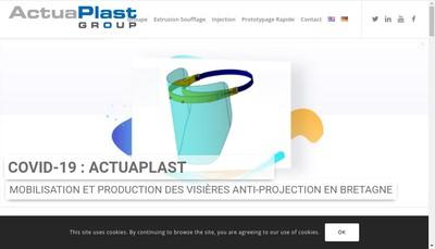 Site internet de Actuaplast