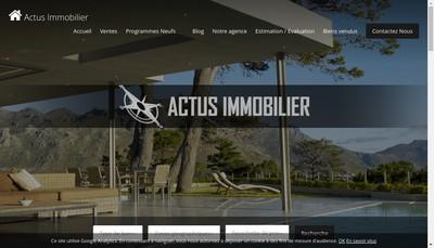Site internet de Actus Immobilier