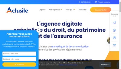 Site internet de Sodeje Assurances
