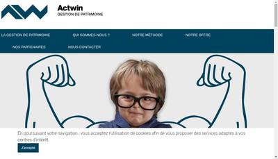 Site internet de Actwin