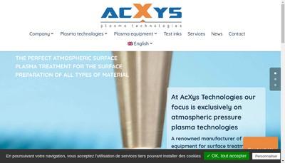 Site internet de Acxys Technologies