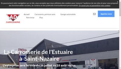 Site internet de Carrosserie de l'Estuaire