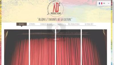 Site internet de Ad2 Productions