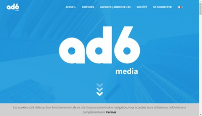 Site internet de Ad6Media