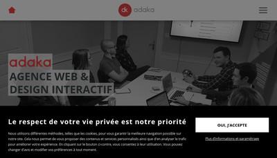 Site internet de Adaka