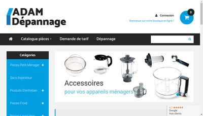 Site internet de Adam Depannage