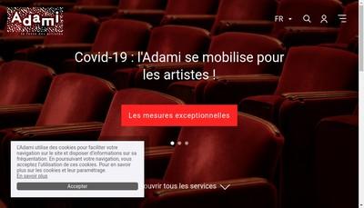 Site internet de Societe Civ Admin Droit Artist Music Interpr