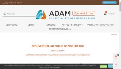 Site internet de Adam Pyrometrie
