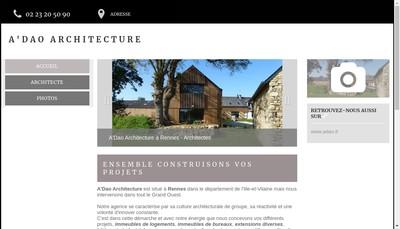 Site internet de SARL a'Dao Architecture