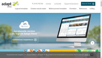 Site internet de Adapt Informatique
