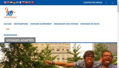 Site internet de Adaptours