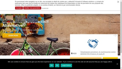 Site internet de Addactis Management