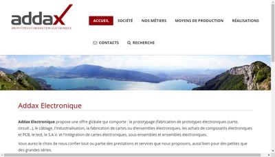 Site internet de Addax Prototypes et Production Electroniques
